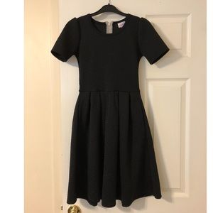 Lularoe Amelia Dress- Black, XXS